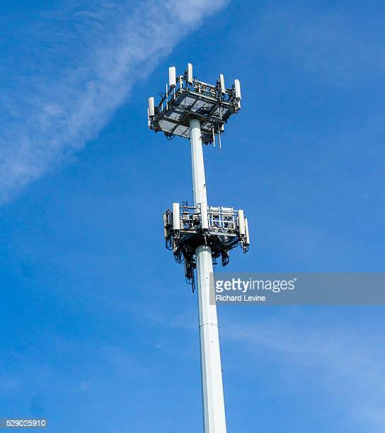 A cellular telephone transmitter farm sits on a tower in Brooklyn in New York on Saturday March 12 2016