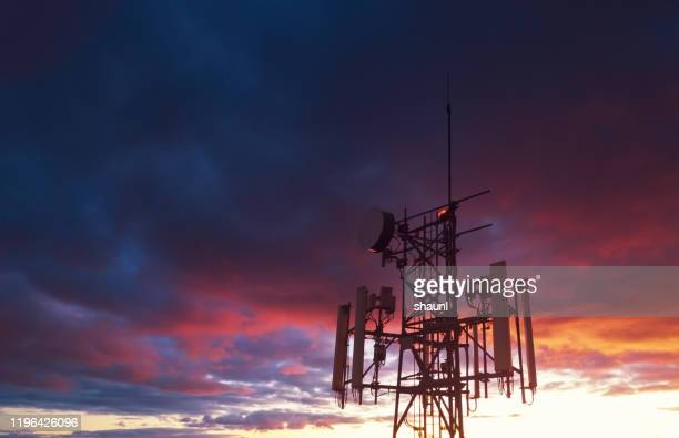 cellular tower - telecommunications equipment stock pictures, royalty-free photos & images