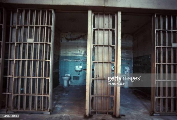 Cellules de la prison d'Alcatraz à San Francisco en Californie aux EtatsUnis