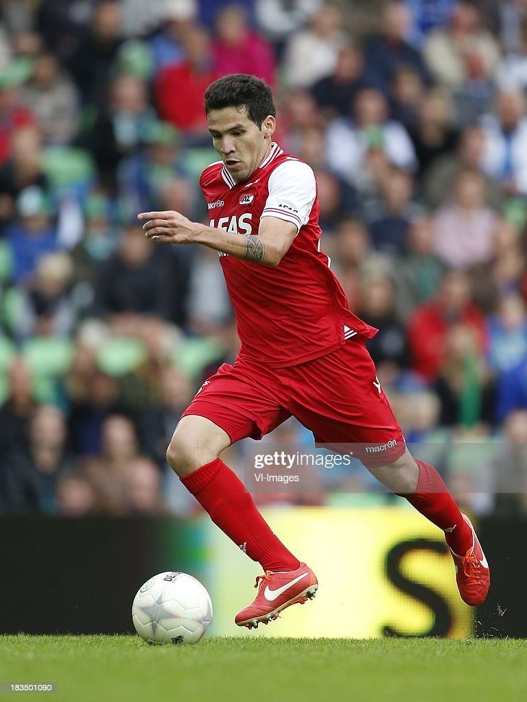 Celso Ortiz of AZ during the Dutch Eredivisie match between FC Groningen and AZ Alkmaar at De Euroborg on Oktober 6, 2013 in Groningen, The Netherlands