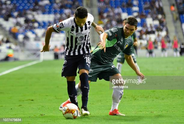 Celso Ortiz of Monterrey fights for the ball during a Group C match between Queretaro and Leon as part of Copa MX Apertura 2018 at Estadio BBVA...