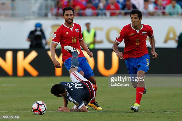 Celso Ortiz of Paraguayfalls during a group A match between Costa Rica and Paraguay at Camping World Stadium l as part of Copa America Centenario US...
