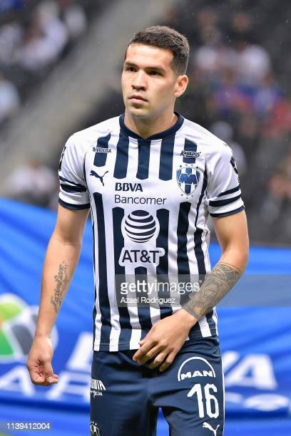 Celso Ortíz of Monterrey pose prior the 12th round match between Monterrey and Cruz Azul as part of the Torneo Clausura 2019 Liga MX at BBVA Bancomer...
