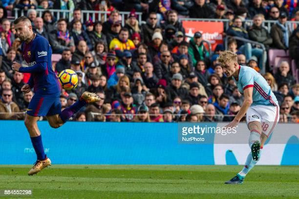 Celta de Vigo defender Daniel Wass during the match between FC Barcelona vs Celta de Vigo for the round 14 of the Liga Santander played at Camp Nou...