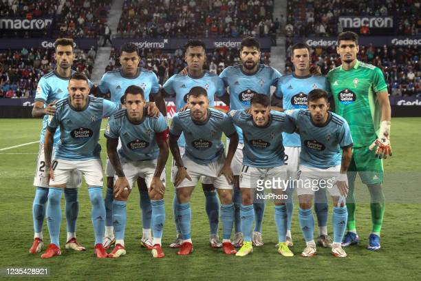 Celta Line up before La liga match between Levante UD and Celta de Vigo at Ciutat de Valencia Stadium on September 21, 2021.