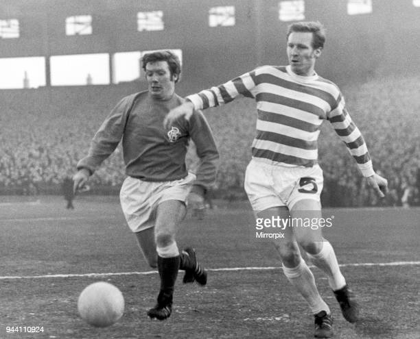 Celtic 00 Ranger league match at Celtic Park 3rd January 1970 Alex McDonald in action against Billy McNeill