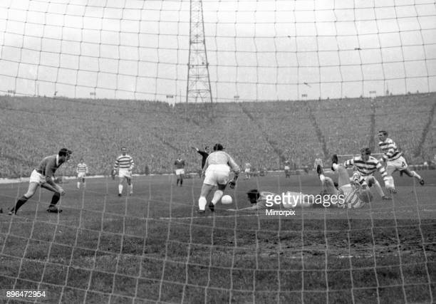 Celtic 1-0 Rangers, Scottish League Cup Final, Hampden Park, Glasgow, Scotland, Saturday 29th October 1966. No penalty, referee Tom °y°harton waves...