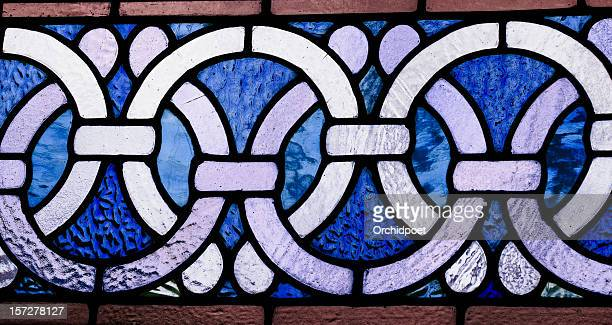 Celtic border in stained glass