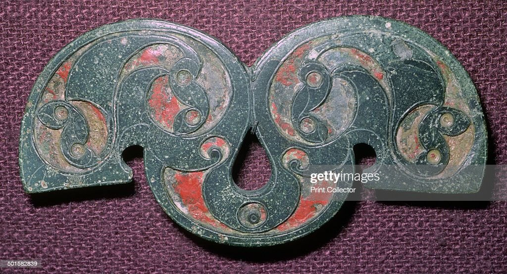 Celtic Bronze Enamelled Mount From Polden Hill Somerset Pictures