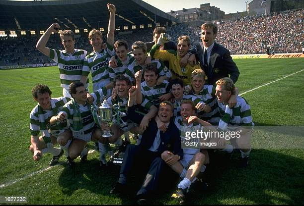 Celtic celebrate after winning the Scottish Cup Final match against Dundee United at Hampden Park in Glasgow Scotland Celtic won the match 21...