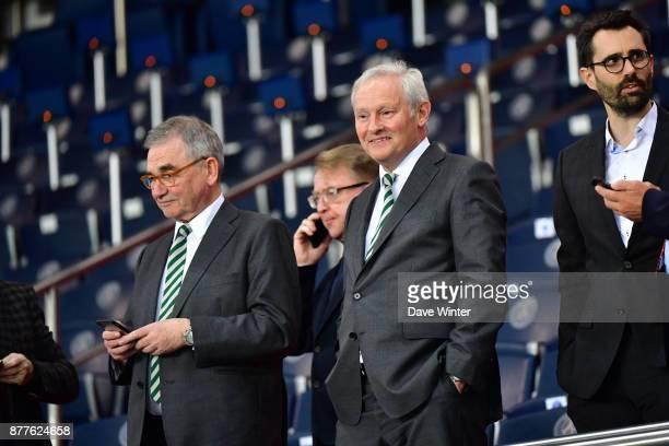 Celtic chairman Ian Bankier during the UEFA Champions League match between Paris Saint Germain and Glasgow Celtic at Parc des Princes on November 22...