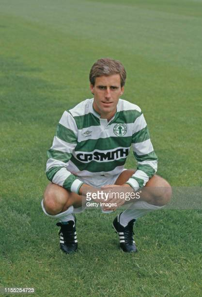 Celtic defender Mick McCarthy pictured at Park Head ahead of the 1987/88 season in Glasgow United Kingdom