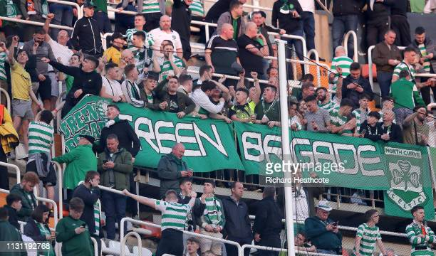 Celtic fans before the UEFA Europa League Round of 32 Second Leg match between Valencia v Celtic at Estadio Mestalla on February 21 2019 in Valencia...