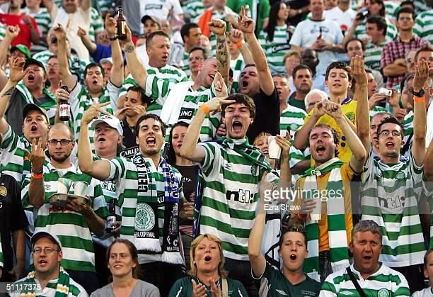 Celtic fans before their game against Liverpool July 26 2004 at Rentschler Field in East Hartford Connecticut