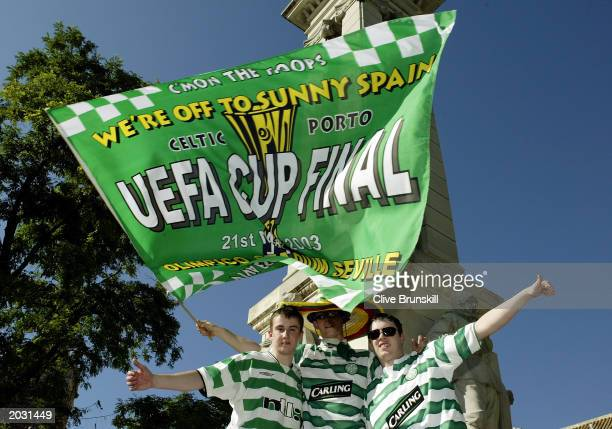 Celtic fans during the UEFA Cup Final match between Celtic and FC Porto held on May 21, 2003 at the Estadio Olimpico in Seville, Spain. FC Porto won...