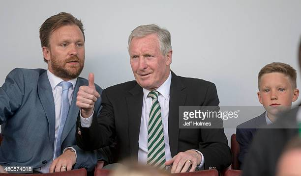 Celtic former captain and manager Billy McNeill at the Pre Season Friendly between Celtic and Real Sociedad at St Mirren Park on July 10th 2015 in...