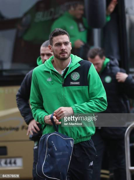 Celtic goalkeeper Craig Gordon arrives at the stadium prior to the Ladbrokes Scottish Premiership match between Celtic and Motherwell at Celtic Park...