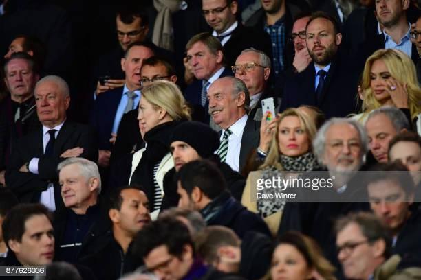 Celtic majority shareholder Dermot Desmond during the UEFA Champions League match between Paris Saint Germain and Glasgow Celtic at Parc des Princes...
