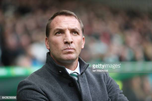Celtic Manager Brendan Rodgers is seen during the Ladbrokes Scottish Premiership match between Celtic and Motherwell at Celtic Park on February 18...