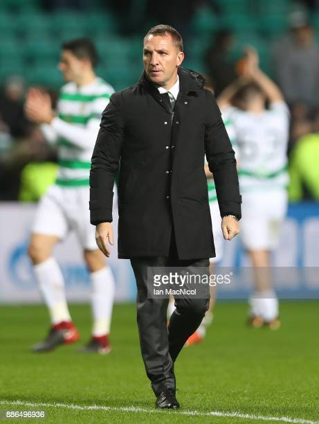 Celtic manager Brendan Rodgers is seen during the UEFA Champions League group B match between Celtic FC and RSC Anderlecht at Celtic Park on December...