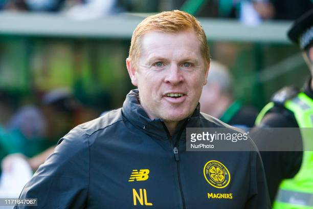 Celtic manager Neil Lennon during the Scottish Premier League match between Hibernian and Celtic at Easter Road on 28 September 2019 in Edinburgh...