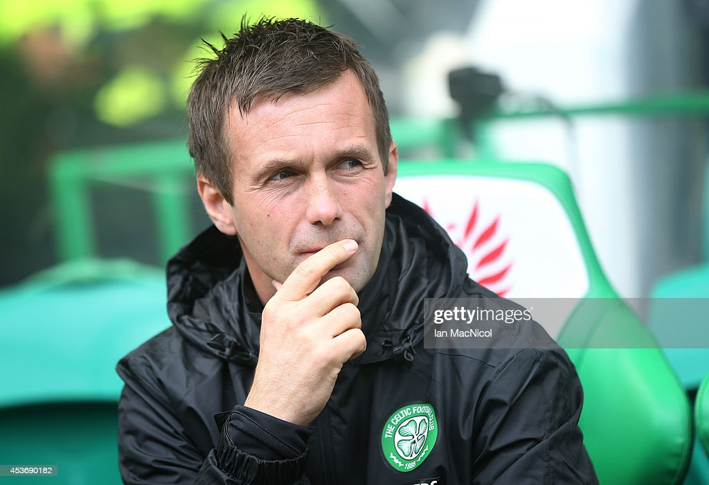 Celtic manager Ronny Delia looks on during the Scottish Premiership League Match between Celtic and Dundee United, at Celtic Park on August 16, 2014 Glasgow, Scotland.