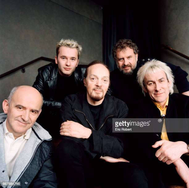 Celtic musicians from the top five bands from Britanny gather in Paris are JeanLouis Jossic of the band Tri Yann Gilles Servat Alan Stivell Alex of...