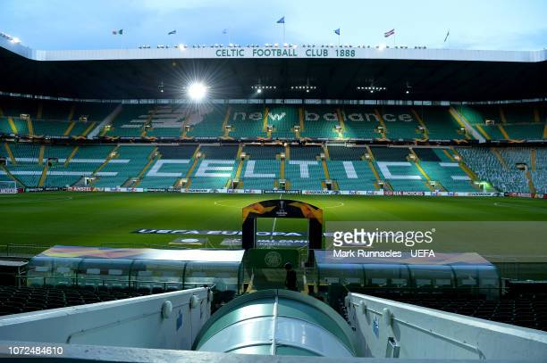 Celtic Park ahead of the UEFA Europa League Group B match between Celtic and RB Salzburg at Celtic Park on December 13, 2018 in Glasgow, United...
