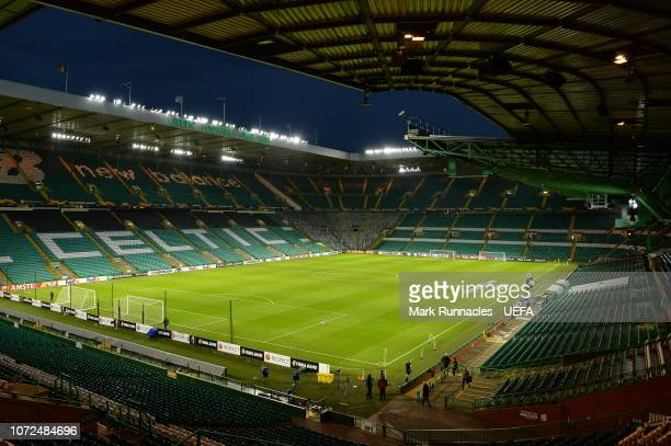 Celtic Park ahead of the UEFA Europa League Group B match between Celtic and RB Salzburg at Celtic Park on December 13 2018 in Glasgow United Kingdom