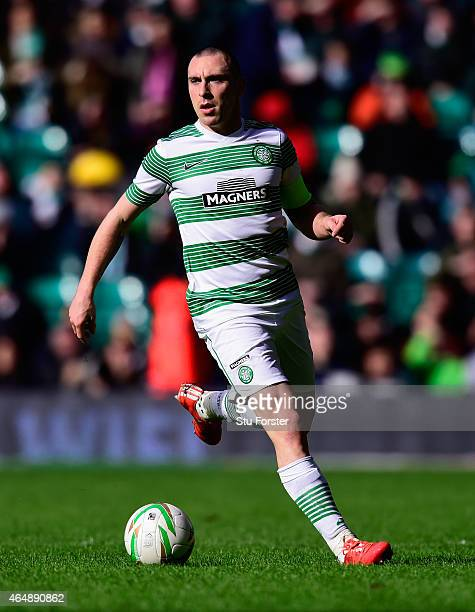 Celtic player Scott Brown in action during the Scottish Premiership match between Celtic and Aberdeen at Celtic Park Stadium on March 1 2015 in...