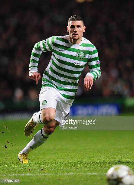 Celtic striker Gary Hooper in action during the UEFA Champions League Group G match between Celtic FC and FC Spartak Moscow at Celtic Park on...
