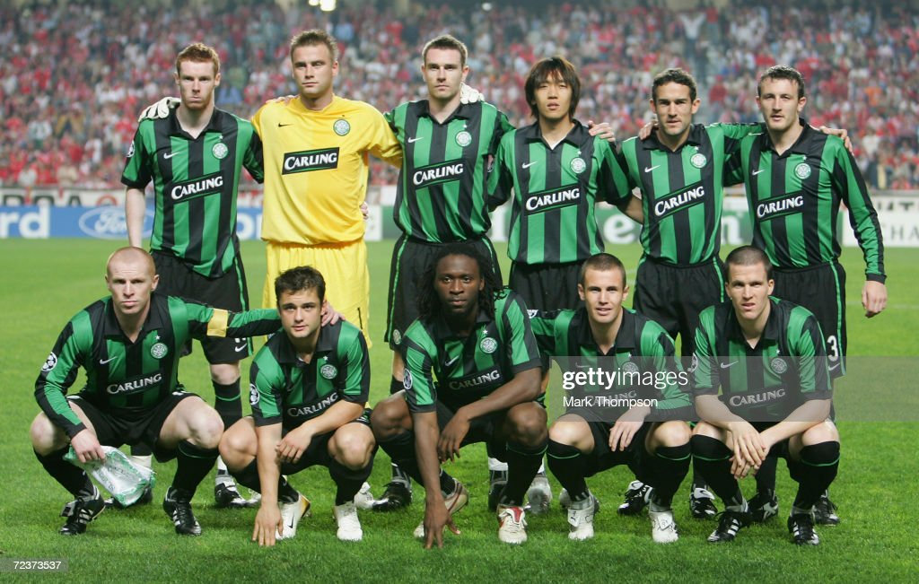 Celtic team group before the UEFA Champions League group A match between Benfica and Celtic at the Estadio da Luz on November 1, 2006 in Lisbon, Portugal.