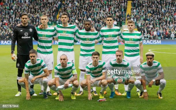 Celtic team group goalkeeper Craig Gordon Jozo Simunovic Nir Bitton Jules Olivier Ntcham Tom Rogic James Forrest Mikael Lustig Scott Brown Kieran...