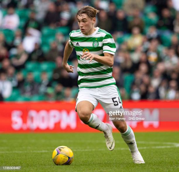 Celtic's Adam Montgomery in action during a cinch Premiership match between Celtic and Ross County at Celtic Park on September 11 in Glasgow, Scotland