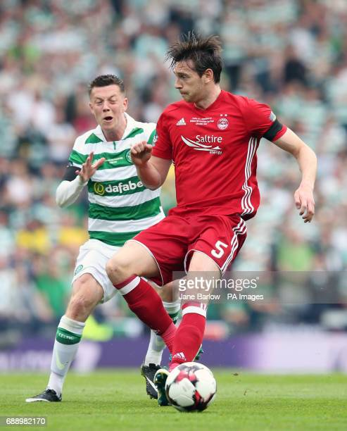 Celtic's Callum McGregor and Aberdeen's Ash Taylor battle for the ball during the William Hill Scottish Cup final at Hampden Park Glasgow