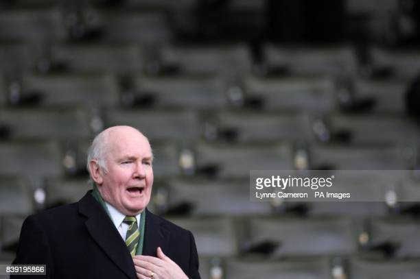 Celtic's chairman John Reid during the Clydesdale Bank Scottish Premier League match at Celtic Park Glasgow