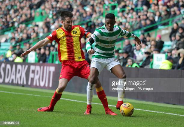 Celtic's Charlie Musonda and Partick Thistle's Callum Booth during the William Hill Scottish Cup fifth round match at Celtic Park Glasgow