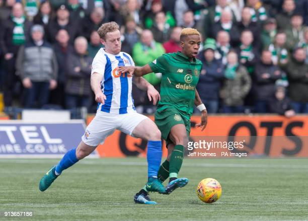 Celticâs Charly Musonda and Kilmarnockâs Rory Mckenzie during the Ladbrokes Scottish Premiership match at Rugby Park Kilmarnock