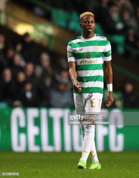 Celtic's Charly Musonda during the Scottish Premiership match at Celtic Park Glasgow