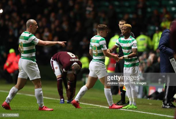 Celtic's Charly Musonda makes his debut as a substitute during the Scottish Premiership match at Celtic Park Glasgow