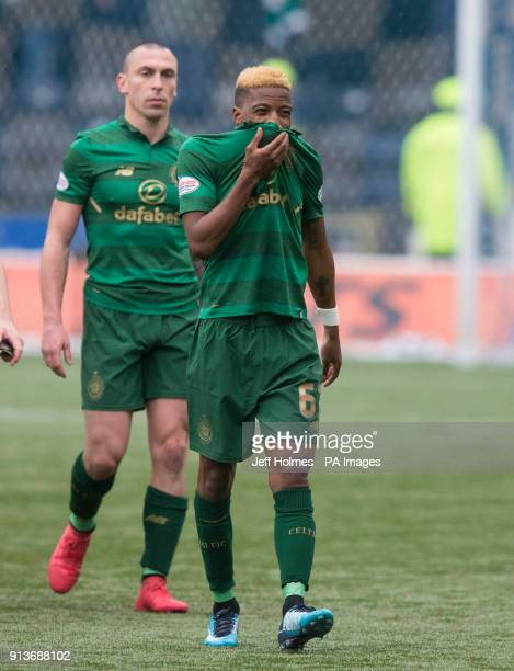 Celtics Charly Musonda with Scott Brown appear dejected after the Ladbrokes Scottish Premiership match at Rugby Park Kilmarnock