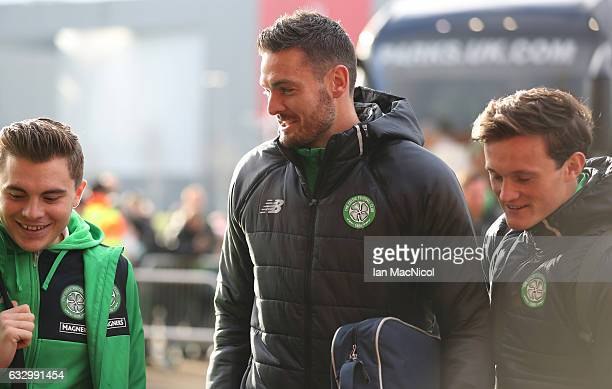 Celtic's Craig Gordon arrives at the stadium prior to the Ladbrokes Scottish Premiership match between Celtic and Heart of Midlothian at Celtic Park...