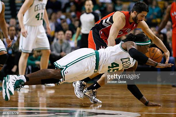 Celtics forward Gerald Wallace attempted to steal the ball from Raptors point guard Greivis Vasquez in the second quarter The Boston Celtics played...