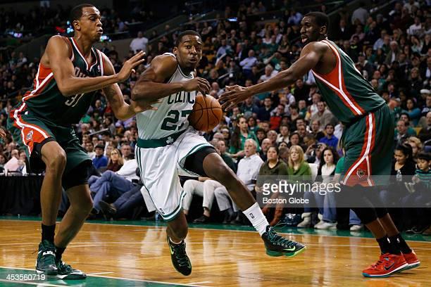 Celtics guard Jordan Crawford drove to the basket between Bucks defenders John Henson and Ekpe Udoh in the second quarter. The Boston Celtics played...