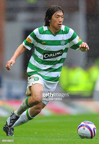 Celtic's Japanese midfielder Shunsuke Nakamura in action during the Scottish Premier League football match between Rangers and Celtic at Ibrox...