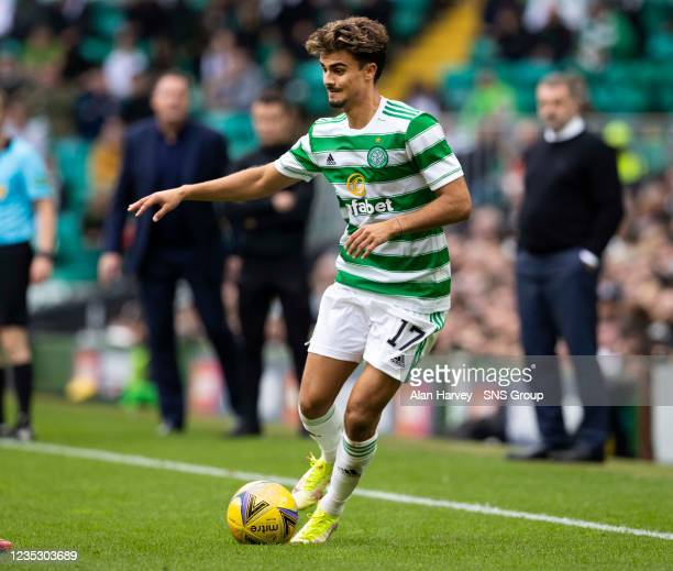 Celtic's Jota in action during a cinch Premiership match between Celtic and Ross County at Celtic Park on September 11 in Glasgow, Scotland