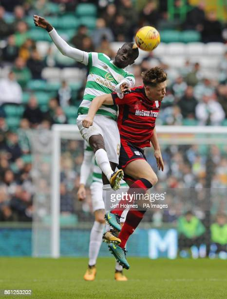Celtic's Kouassi Eboue and Dundee's Lewis Spence during the Ladbrokes Scottish Premiership match at Celtic Park Glasgow