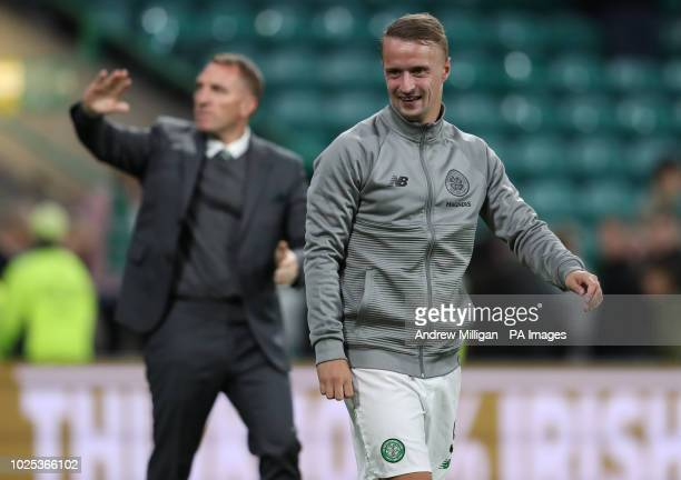 Celtic's Leigh Griffiths after the UEFA Europa League PlayOff Second Leg match at Celtic Park Glasgow