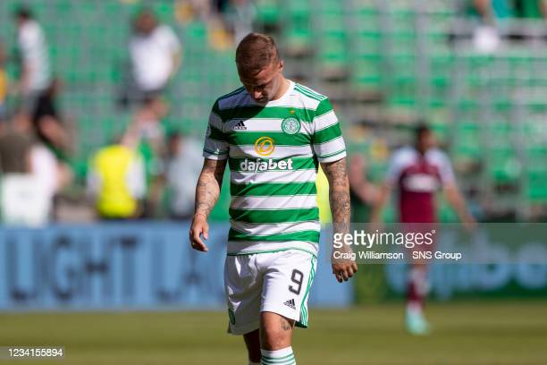 Celtic's Leigh Griffiths at full time during a friendly match between Celtic and West Ham United at Celtic Park on July 24 in Glasgow, Scotland