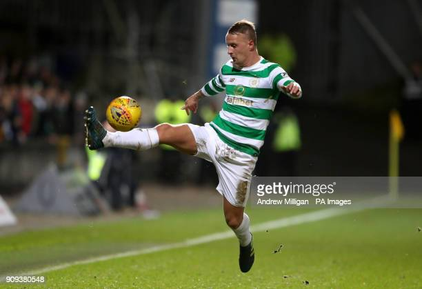 Celtic's Leigh Griffiths controls the ball during the Ladbrokes Premiership match at Firhill Stadium Glasgow